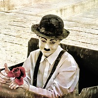 Buy canvas prints of Charlie Chaplin  by Peter Hunt