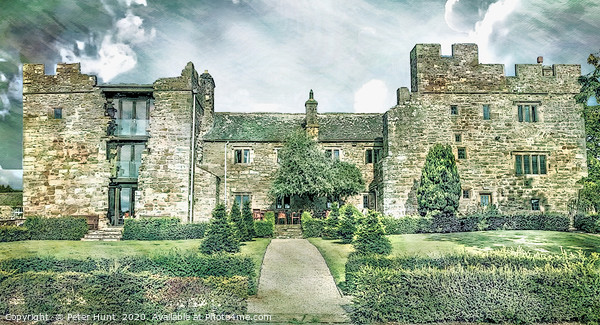 Blencowe Hall Canvas Print by Peter Hunt