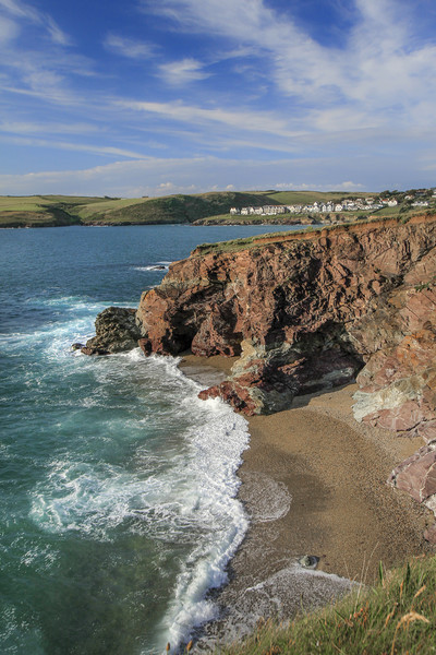 Tidal Cove, with view towards New Polzeath,  Cornw Canvas Print by Mick Blakey