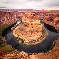 Buy canvas prints of Horseshoe Bend in Arizona by Erik Lattwein