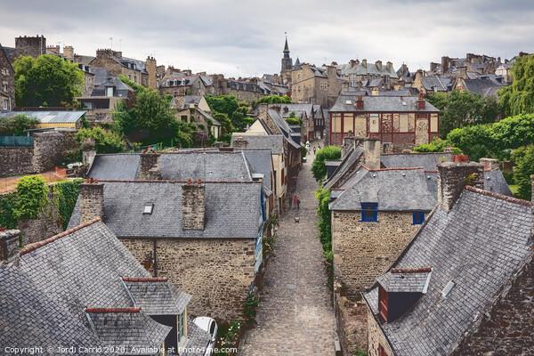 Medieval city of Dinan - France Canvas Print by Jordi Carrió