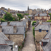 Buy canvas prints of Medieval city of Dinan - France by Jordi Carrió