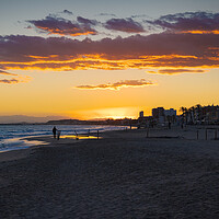 Buy canvas prints of Sunset on the beach of Saint Salvador -2 by Jordi Carrió