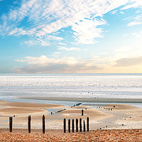 Buy canvas prints of Hastings beach early in the morning by Simon Marlow