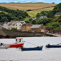 Buy canvas prints of Hope Cove in South Devon by Simon Marlow