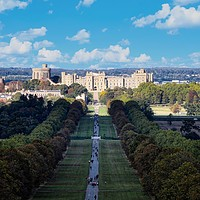 Buy canvas prints of The long walk to Windsor Castle, Berkshire by Simon Marlow