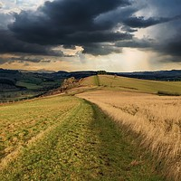 Buy canvas prints of A storm is brewing, South Shropshire by Simon Marlow