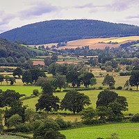 Buy canvas prints of South Shropshire landscape of the Clun Valley by Simon Marlow