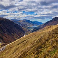 Buy canvas prints of View from Cad, Snowdonia National Park, Wales by Simon Marlow