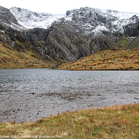 Buy canvas prints of Llyn Idwal lake in Snowdonia National Park, Wales by Simon Marlow