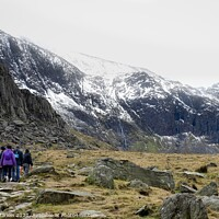Buy canvas prints of Hiking at Llyn Idwal in Snowdonia National Park, Wales by Simon Marlow