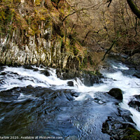 Buy canvas prints of Swallow Falls, Snowdonia National Park by Simon Marlow