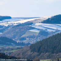 Buy canvas prints of Shropshire winter landscape by Simon Marlow