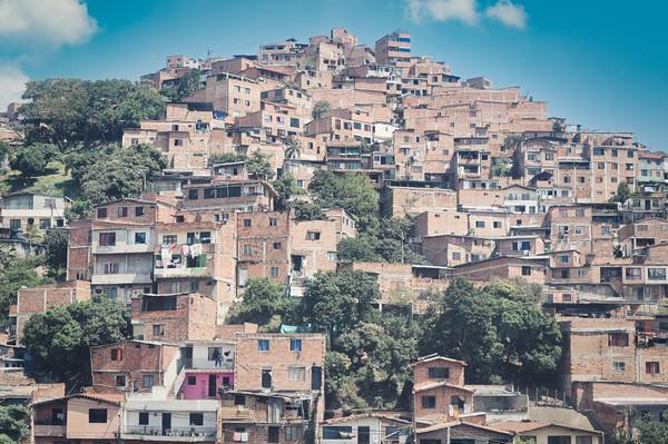 Comuna 13 Slum in Medellin, Colombia Canvas Print by federico stevanin