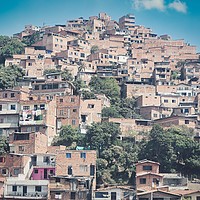 Buy canvas prints of Comuna 13 Slum in Medellin, Colombia by federico stevanin