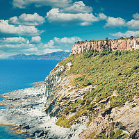 Buy canvas prints of Amazing coastline of Sardinia by federico stevanin