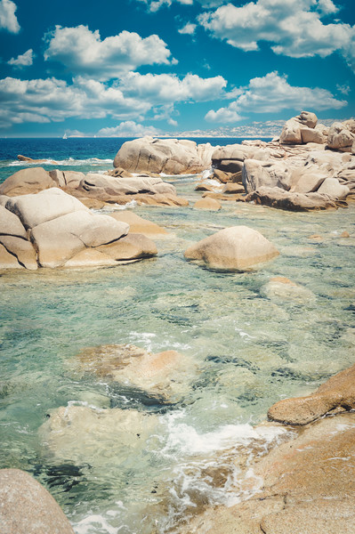 magnificent glimpse of the sea in Sardinia Canvas Print by federico stevanin