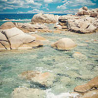 Buy canvas prints of magnificent glimpse of the sea in Sardinia by federico stevanin