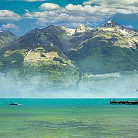 Buy canvas prints of Wakatipu Lake, New Zealand by federico stevanin