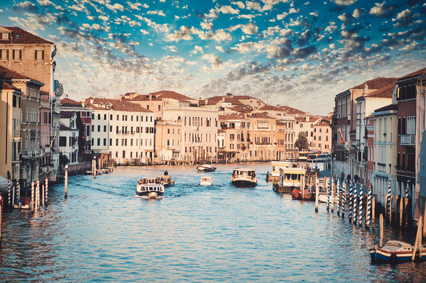 The Gran Canal In Venice Canvas Print by federico stevanin