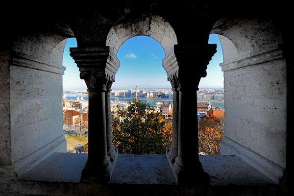 Budapest view from Castle window Canvas Print by federico stevanin