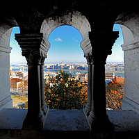 Buy canvas prints of Budapest view from Castle window by federico stevanin