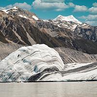 Buy canvas prints of Big iceberg on Mt Cook Tasman Glacier Lake by federico stevanin