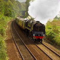 Buy canvas prints of Duke of Gloucester passing Conway. by mark baker