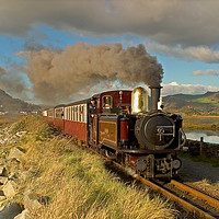 Buy canvas prints of Taliesin on the cob,Ffestiniog Railway. by mark baker