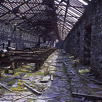 Buy canvas prints of Shed Australia,Dinorwig Quarry by mark baker
