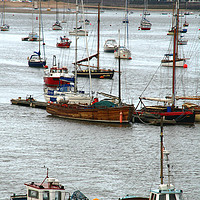 Buy canvas prints of conway harbour. by mark baker
