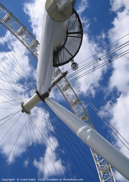 London Eye. Framed Mounted Print by mark baker