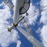 Buy canvas prints of London Eye. by mark baker