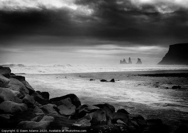 Sea Stacks in Iceland Print by Dawn Adams