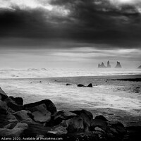 Buy canvas prints of Sea Stacks in Iceland by Dawn Adams