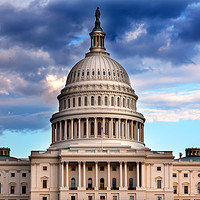 Buy canvas prints of US Capitol Dome Houses of Congress Washington DC by William Perry