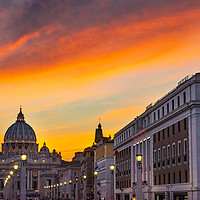 Buy canvas prints of Saint Peter's Basilica Vatican Rome  by William Perry