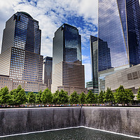 Buy canvas prints of World Trade Center Memorial Pool New York City by William Perry