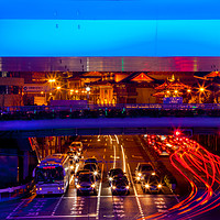 Buy canvas prints of Blue Highway Traffic Shanghai China by William Perry