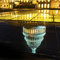 Buy canvas prints of US Capitol Night Stars Washington DC by William Perry