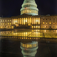 Buy canvas prints of US Capitol Night Washington DC by William Perry