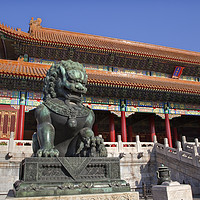 Buy canvas prints of Gate Gugong Forbidden City Beijing China by William Perry