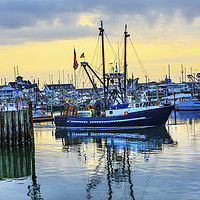 Buy canvas prints of Large Fishing Boat Westport Grays Harbor Washingto by William Perry