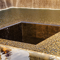Buy canvas prints of 911 Memorial Pool Fountain Waterfall New York NY by William Perry
