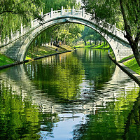 Buy canvas prints of Moon Gate Purple Bamboo Park Beijing China by William Perry