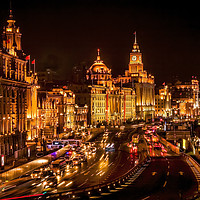 Buy canvas prints of The Bund in Shanghai China  by William Perry