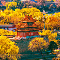Buy canvas prints of Arrow Tower Forbidden City Palace Beijing China by William Perry