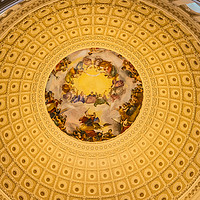 Buy canvas prints of US Capitol Dome Rotunda Apothesis Washington DC by William Perry