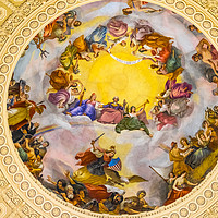 Buy canvas prints of George Washington Apothesis US Capitol Dome Rotund by William Perry