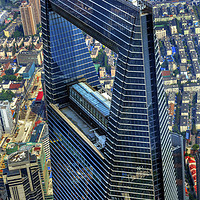 Buy canvas prints of Shanghai World Financial Center China by William Perry